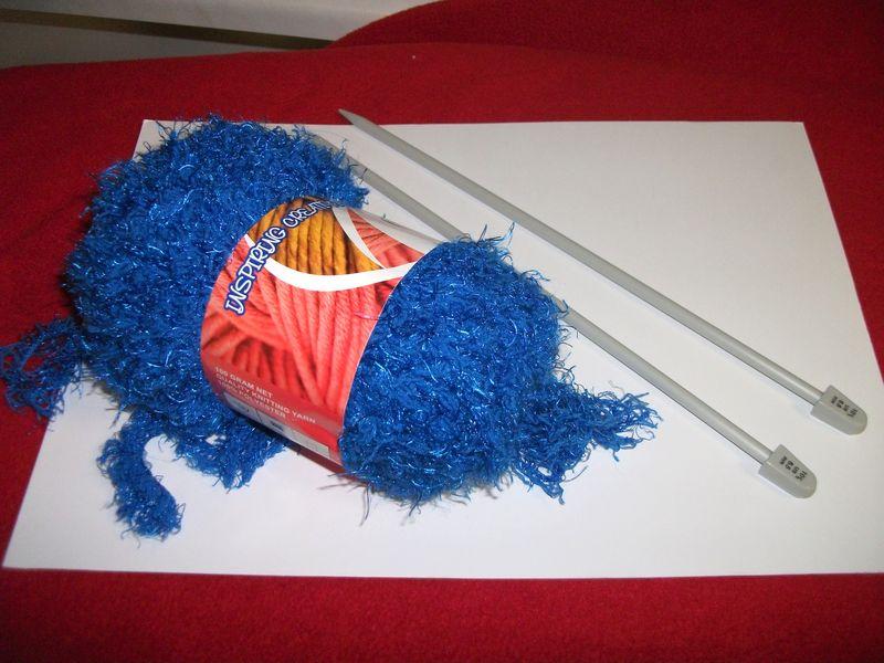 Boa fluffy yarn and big needles