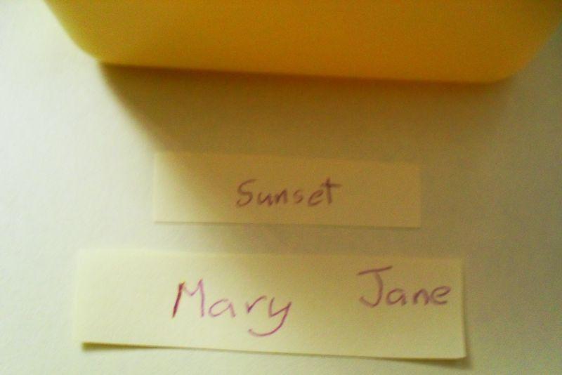 Yellow names