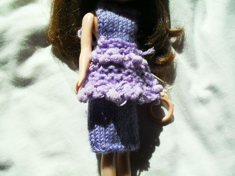 Cute apron purple front
